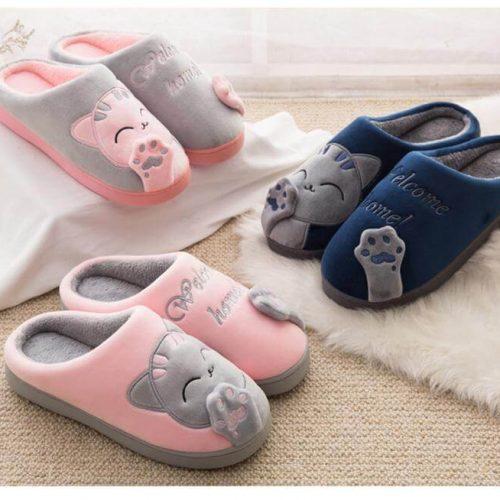 3d katten pantoffels